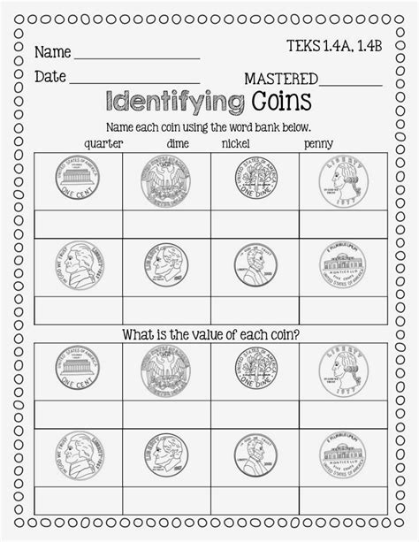 Money Worksheets 1st Grade by Flying High In Grade Finishing Up Money Freebie