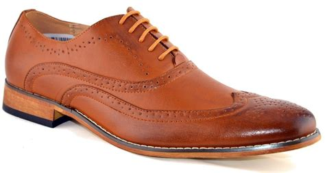 mens leather lined smart wedding lace up brogues formal