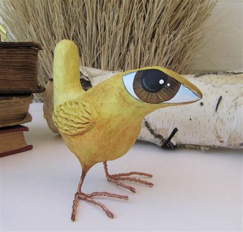 Make Paper Mache Birds - paper mache sculpture bruce a big eyed bird