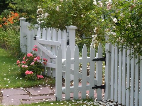 cottage garden fence picket cottage garden pretty picket fence welcomes you