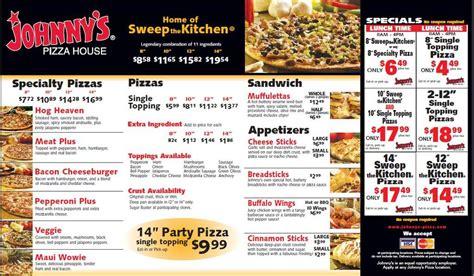 Johnny S Pizza House Menu Urbanspoon Zomato