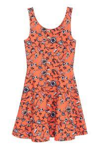 Orange Chain Dress M L 18289 1 sleeveless dress orange floral sale h m us