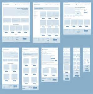 responsive wireframes high level example of how a page