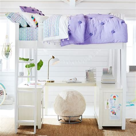 teenage loft beds beadboard loft bed pbteen