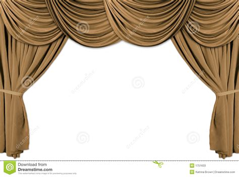 Theatrical Curtains by Gold Theater Stage Draped With Curtains Stock Illustration