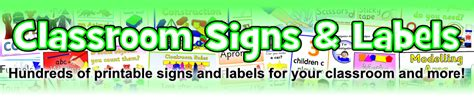 printable classroom area signs classroom signs and labels printables for primary schools