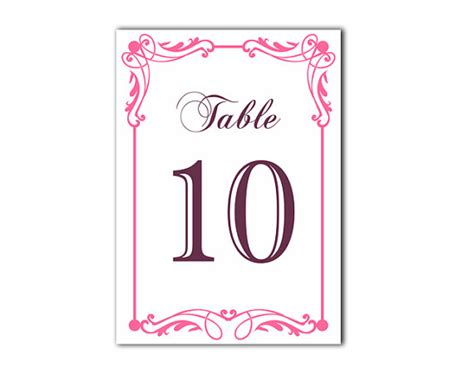 free printable table numbers 1 10 table numbers wedding table numbers printable table cards