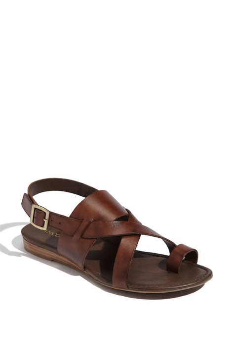 franco sarto sandals franco sarto sandal in brown chocolate antanado lyst