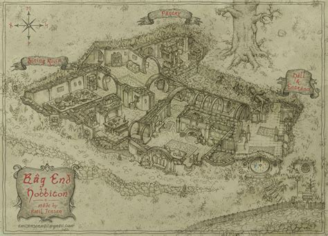 bag end floor plan bag end by emiljart on deviantart