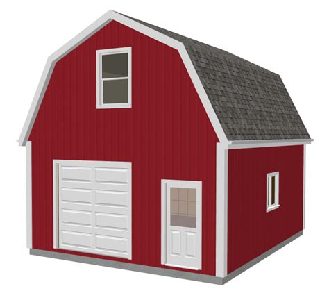 Gambrel Barn Plans by Garage Plans Sds Plans