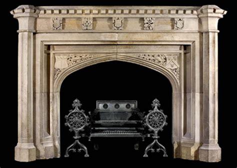 hand carved tudor gothic mantle model mfp174 houston tx