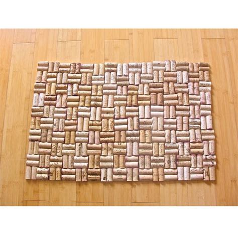 going to make this for kitchen wine cork floor mat