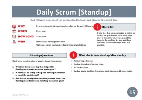 Practical Guide To Scrum Scrum Daily Standup Template