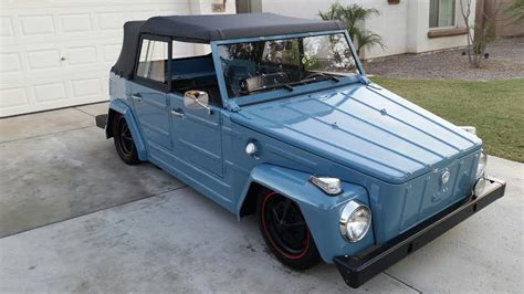 volkswagen thing blue 1974 volkswagen thing convertible 180903