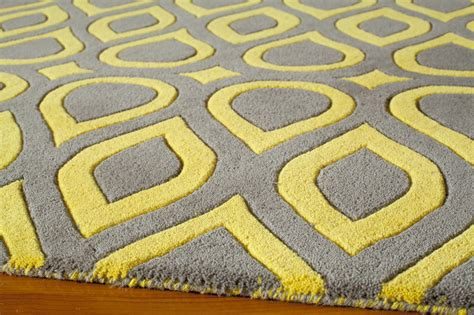 Grey And Yellow Rugs by District17 Gray And Yellow Geometric Delhi Rug Patterned