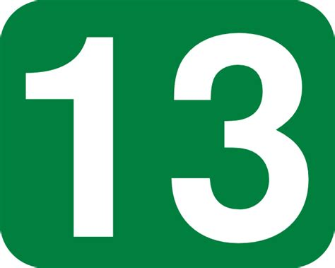 Or Number Number 13 Clipart