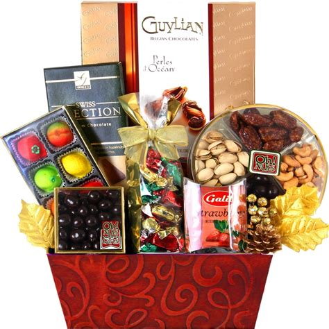 christmas chocolate planter christmas nut gift baskets