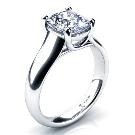 cushion solitaire engagement ring 197
