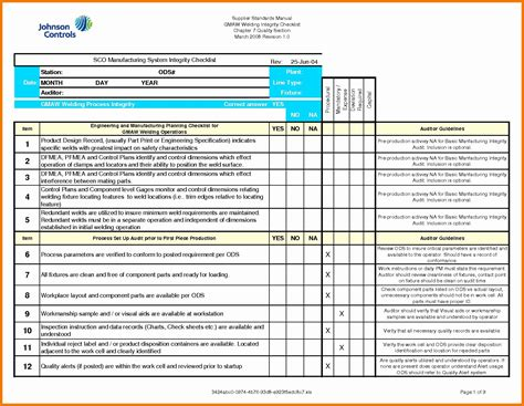 Iso 9001 2015 Checklist Excel Template Glendale Community Document Template Iso 9001 2015 Checklist Excel Template
