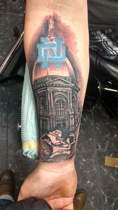 notre dame tattoo 7 best notre dame tattoos images on fighting