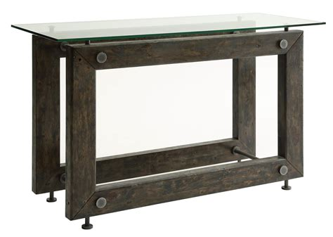 industrial sofa table coaster 70427 704279 industrial sofa table with tempered