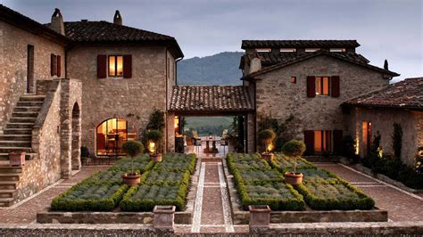 italy houses the luxury estate of castello di reschio in umbria italy