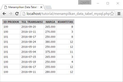 cara membuat tabel pada mysql cara baru menilkan data tabel pada database mysql