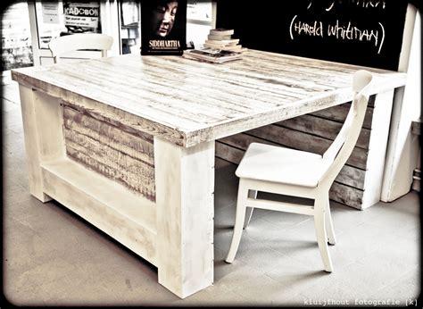 tafel hout 150 cm tafel van sloophout 150 x 150 cm