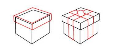 christmas gift boxes drawing