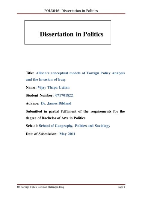 politics dissertation exles dissertation in politics us foreign policy decision