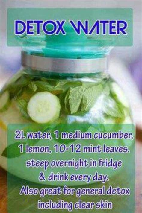 Can You Detox Your With Water by Detox Water For Clear Skin Drinks