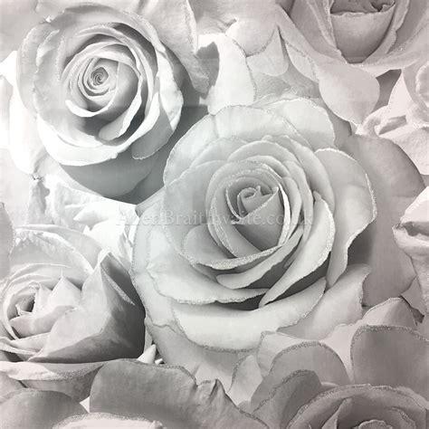 wallpaper grey roses murvia madison glitter silver wallpaper 139520