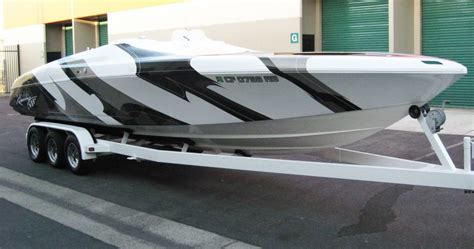 vinyl wrap on boat boat wrap motorcycle wrap golf cart wrap airplane wrap