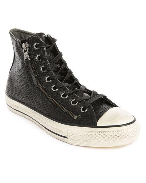 skin sneakers converse x varvatos black zipped snake skin sneakers