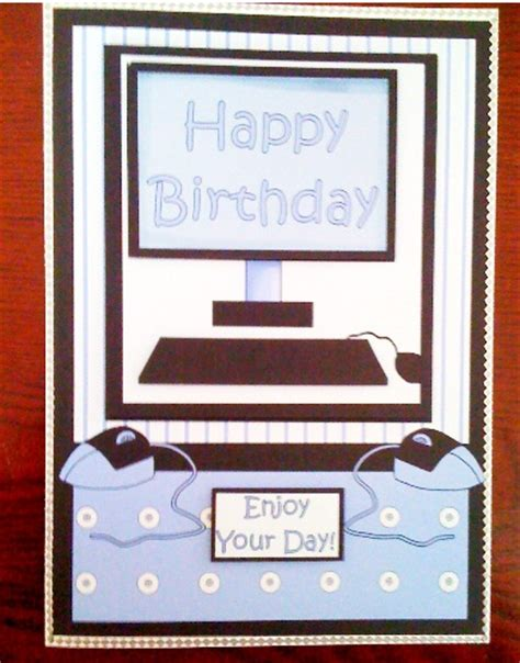 how to make birthday cards on the computer happy birthday computer decoupage card front photo