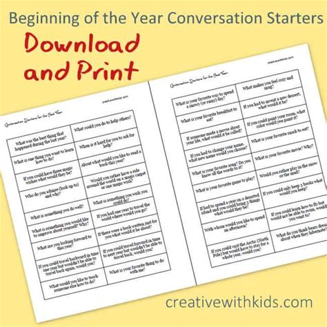 new year conversation questions kid conversation starters for the beginning of the year
