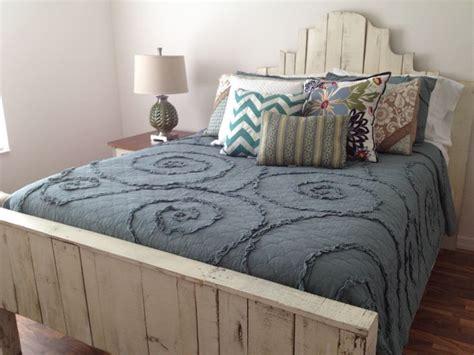 queen pallet bed queen pallet bed in distressed white pallet furniture
