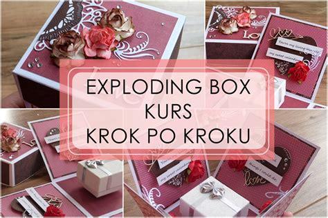 Scrapbook Exploding Box exploding box kurs krok po kroku w uk o