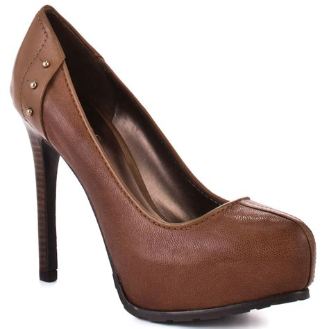 guess shoes gamira med brown leather shoes ifavshoes