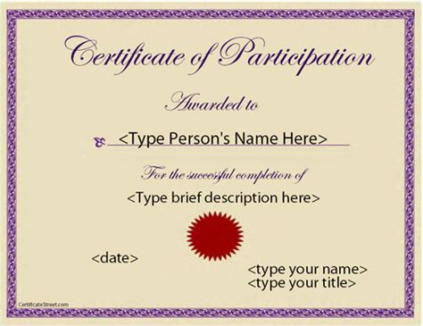 pageant certificate template best photos of pageant certificate of participation