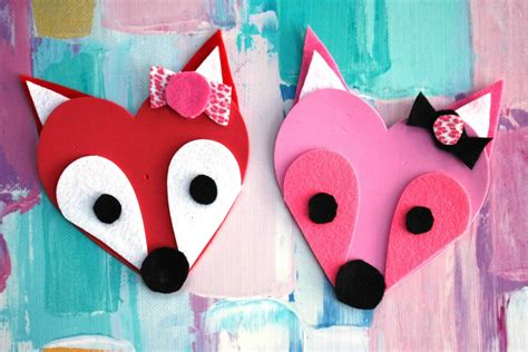 fox craft for fox craft foam fox valentines darice