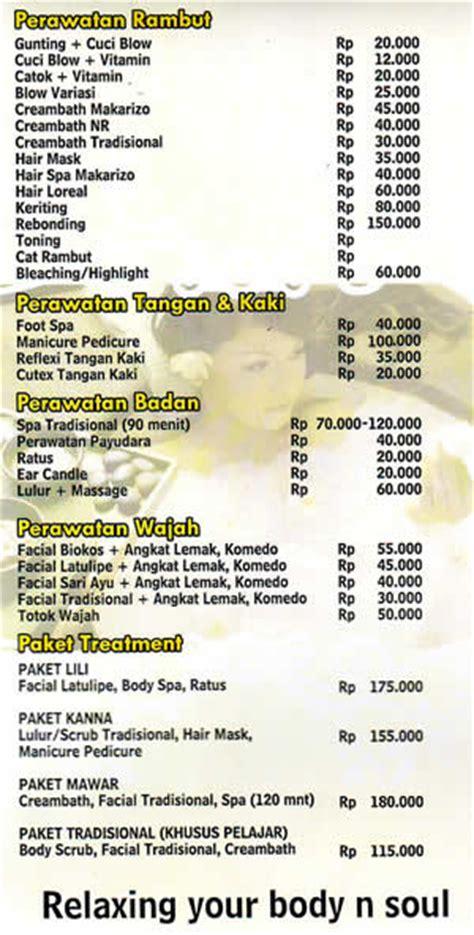 Daftar Masker Rambut Di Salon lilief salon yogyakarta jogja