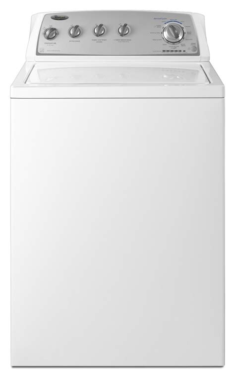 top load washer with agitator whirlpool 3 4 cu ft top load washer w xtra roll plus agitator white stackable