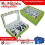 Kotak Jam Tangan Box Organizer Isi 12 Mix Accesories Drawer brown box mix ring organizer box jam kombinasi