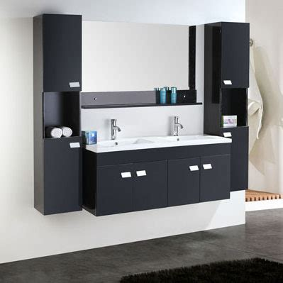lavabo nero bagno arredo bagno 120 cm nero o bianco doppio lavabo in