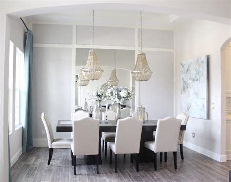 dining room mirror wall frills  drills