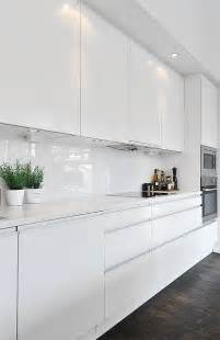 Contemporary White Kitchen Cabinets by Black Amp White Contemporary Loft In Stockholm Sweden