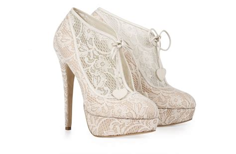 Bridal Bootie Shoes by Lace Bridal Booties Onewed