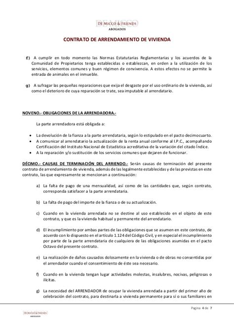 modelo contrato alquiler vivienda 2016 argentina de micco friends modelo contrato de arrendamiento de