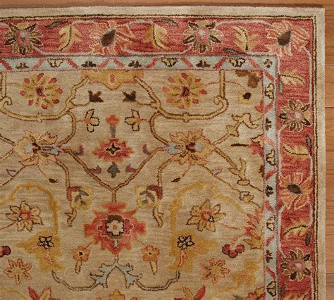 New Pottery Barn Handmade Persian Elham Area Rug 8x10 Pottery Barn Rugs